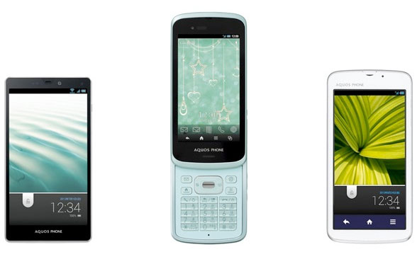 KDDI reveals its Spring 2012 colection: Android smartphones are still hot
