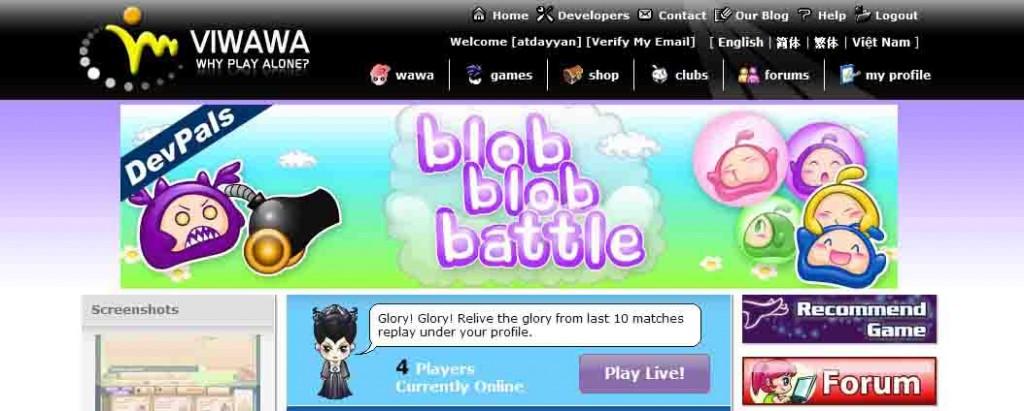 Tampilan Blob Blob Battle