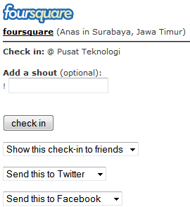 Isi dan tekan check in