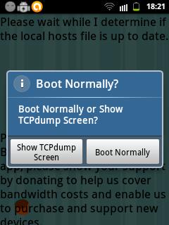 Pilihan boot pada AdFree