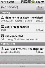 Notifikasi Aplikasi TubeX Pada Ponsel Android