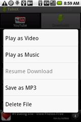 Pilihan Menu Untuk Memutar Video Youtube