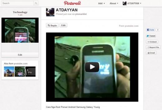 Menyisipkan Video Pada Pinterest